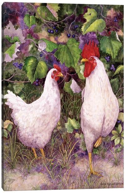 Roosters en Place IV Canvas Art Print