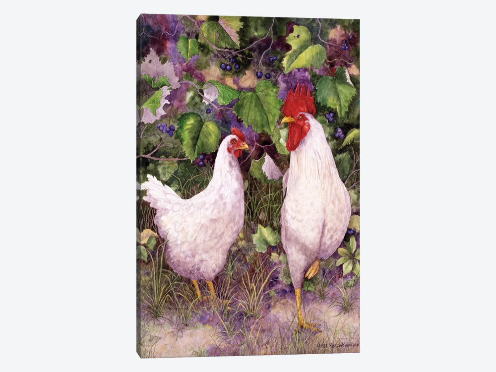 Roosters en Place IV by Marcia Matcham 1-piece Art Print