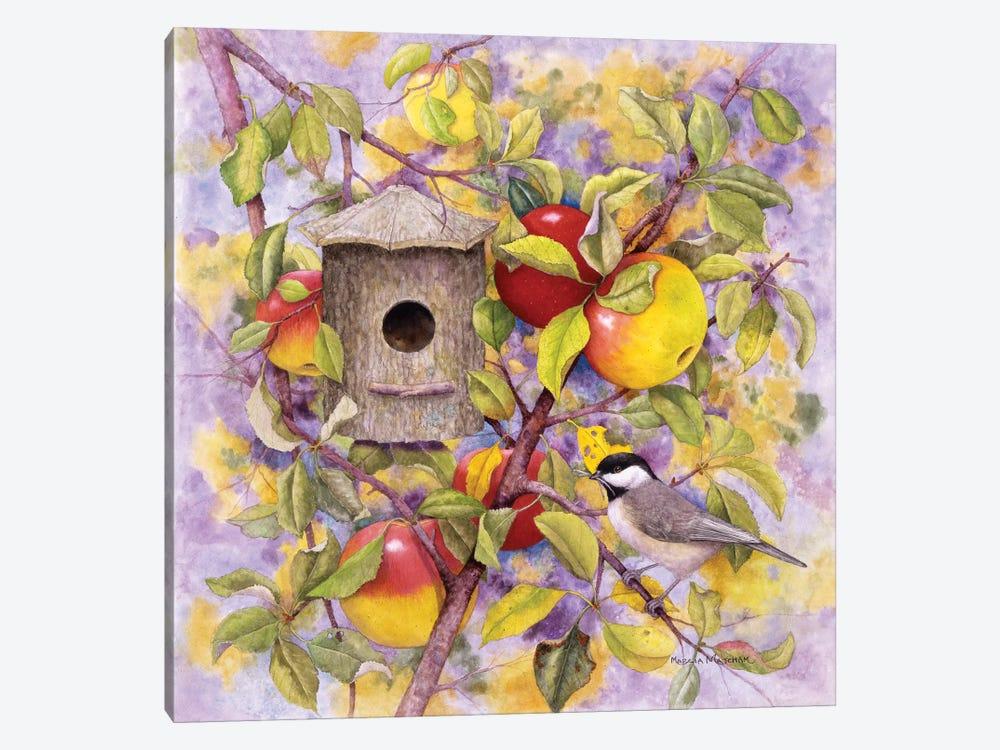 Chickadee & Apples by Marcia Matcham 1-piece Canvas Art Print