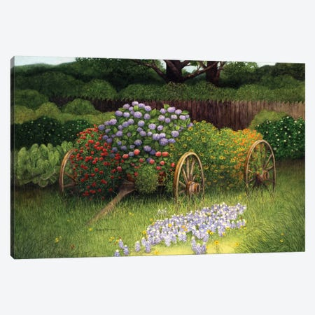 Flower Wagon Canvas Print #MMA7} by Marcia Matcham Art Print