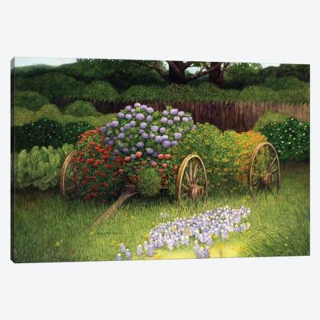 Flower Wagon Canvas Print #MMA7} by Marcia Matcham Art Print