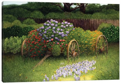 Flower Wagon Canvas Art Print