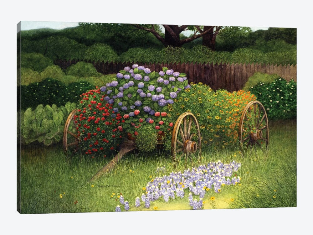 Flower Wagon by Marcia Matcham 1-piece Art Print