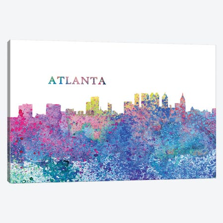 Atlanta Georgia Skyline Impressionistic Splash Canvas Print #MMB146} by Markus & Martina Bleichner Canvas Print