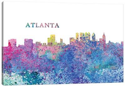 Atlanta Georgia Skyline Impressionistic Splash Canvas Art Print