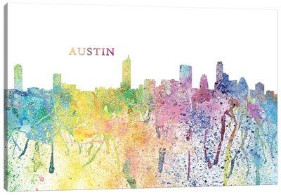 Austin Texas Skyline Impressionistic Splash Canvas Art Print