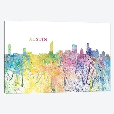 Austin Texas Skyline Impressionistic Splash Canvas Print #MMB148} by Markus & Martina Bleichner Canvas Art