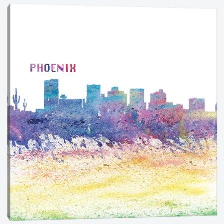 Phoenix Arizona Skyline Silhouette Impressionistic Splash Canvas Print #MMB172} by Markus & Martina Bleichner Canvas Print