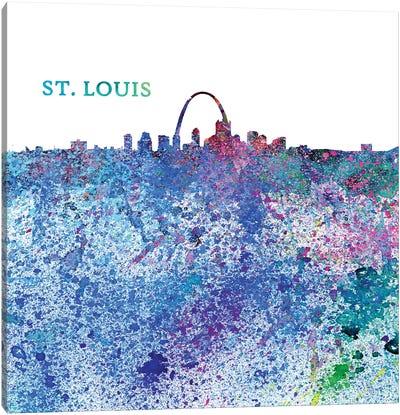 St Louis Missouri Skyline Silhouette Impressionistic Splash Canvas Art Print