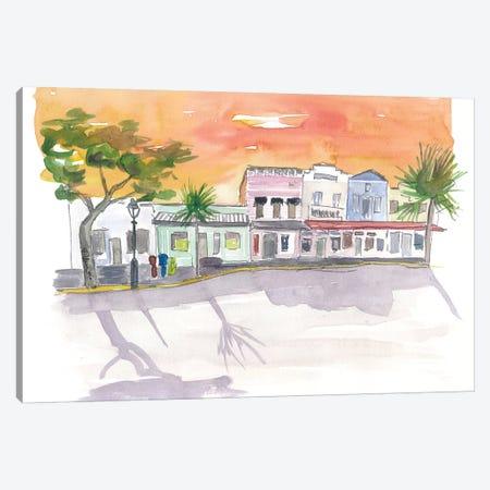 Shops On Duval St Key West Fl Canvas Print #MMB182} by Markus & Martina Bleichner Canvas Art