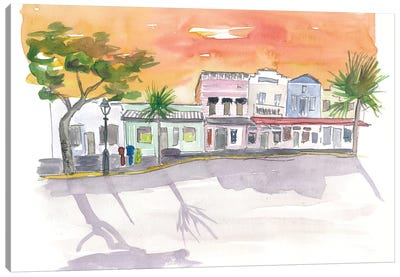 Shops On Duval St Key West Fl Canvas Art Print