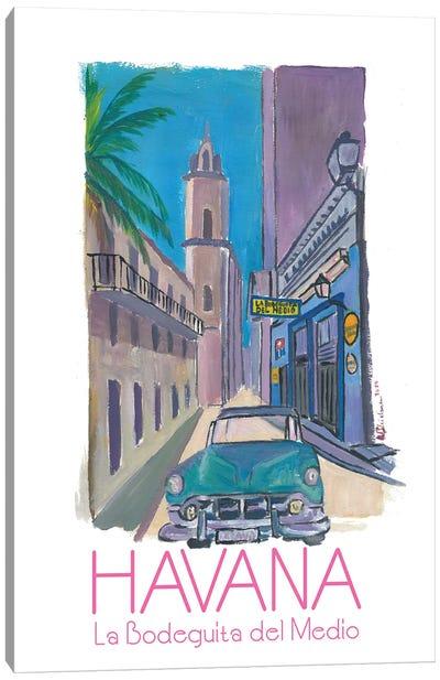 Havana Cuba La Bodeguita Del Medio Retro Poster Canvas Art Print