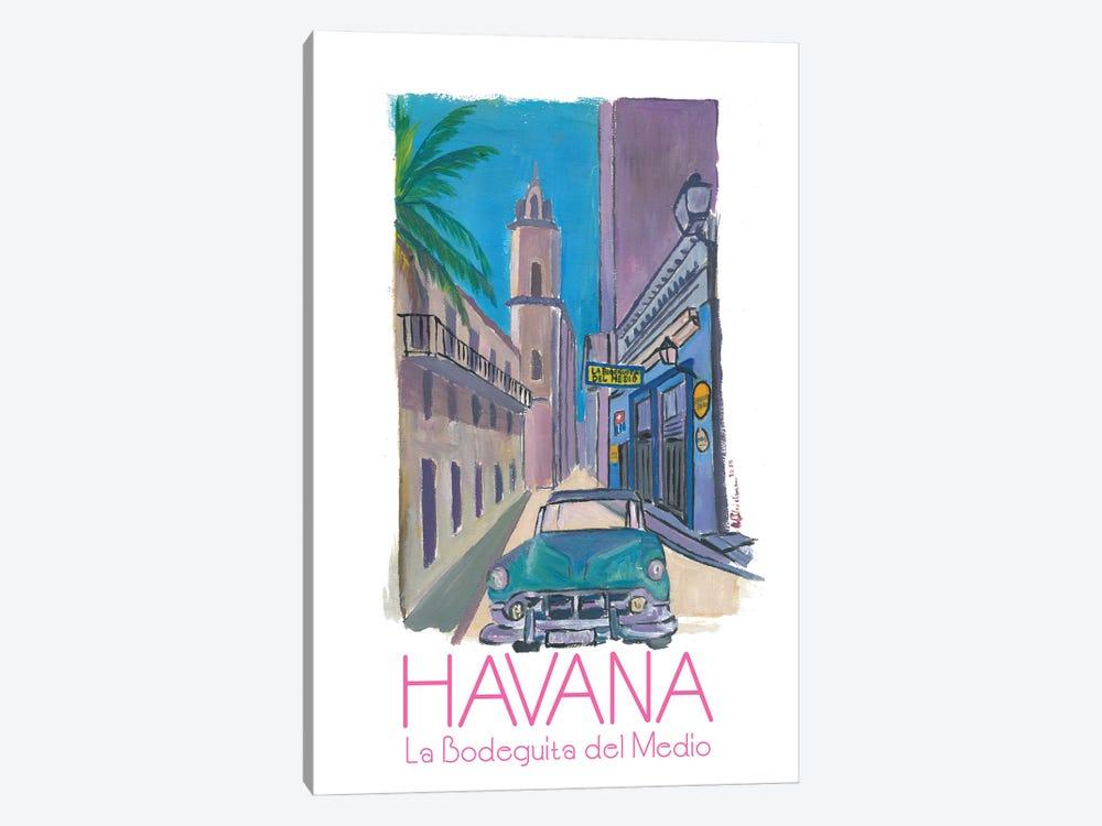 Havana Cuba La Bodeguita Del Medio Retro Poster by Markus & Martina Bleichner 1-piece Canvas Artwork