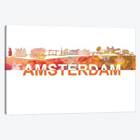 Amsterdam Skyline Scissor Cut Giant Text Canvas Print #MMB198} by Markus & Martina Bleichner Art Print