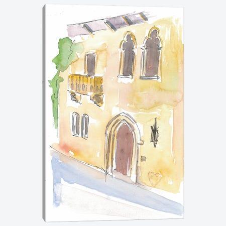 Balcony Of Juliet In Verona Symbol Of Love Canvas Print #MMB200} by Markus & Martina Bleichner Art Print