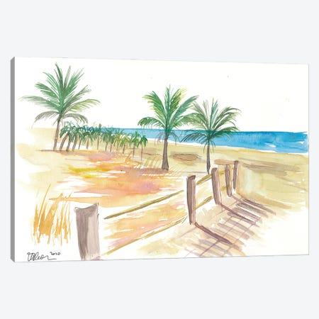Beach Walk At The Promenade Scene Canvas Print #MMB204} by Markus & Martina Bleichner Canvas Art