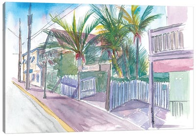Blue Heaven Thomas St Patio Key West Florida Canvas Art Print