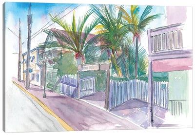 Blue Heaven Thomas St Patio Key West Florida Canvas Art Print