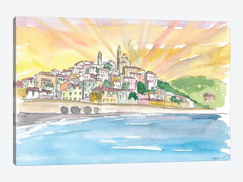 Cervo Liguria Italian Village by The Sea by Markus & Martina Bleichner 1-piece Art Print