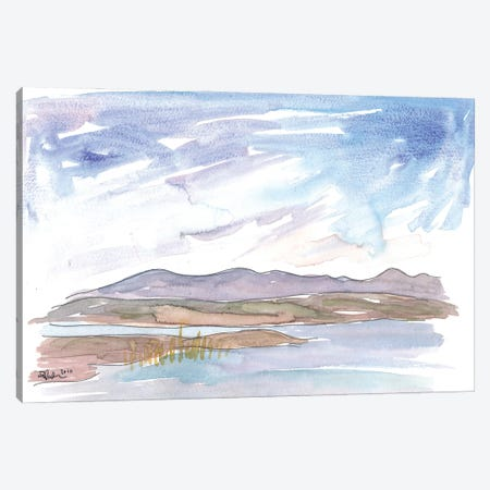 Connemara Ireland Incredible Landscape with Lough and Hills Canvas Print #MMB212} by Markus & Martina Bleichner Canvas Art