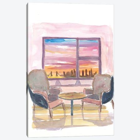 Cozy Panorama Window To London UK Canvas Print #MMB216} by Markus & Martina Bleichner Canvas Art Print