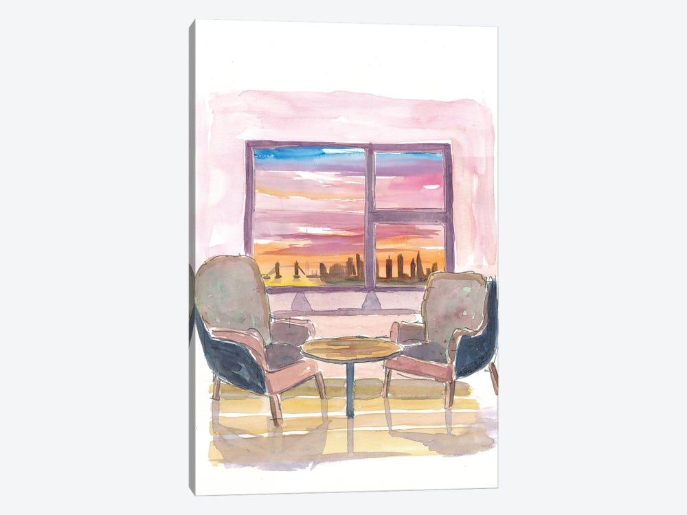 Cozy Panorama Window To London UK by Markus & Martina Bleichner 1-piece Art Print