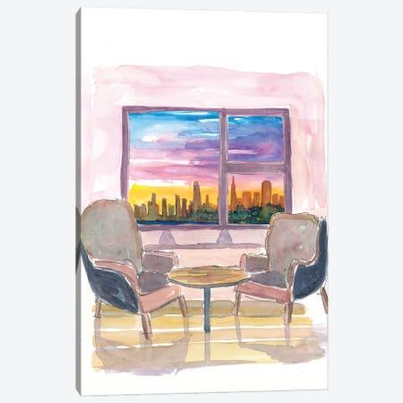 Cozy Panorama Window To San Francisco California Canvas Print #MMB219} by Markus & Martina Bleichner Canvas Art