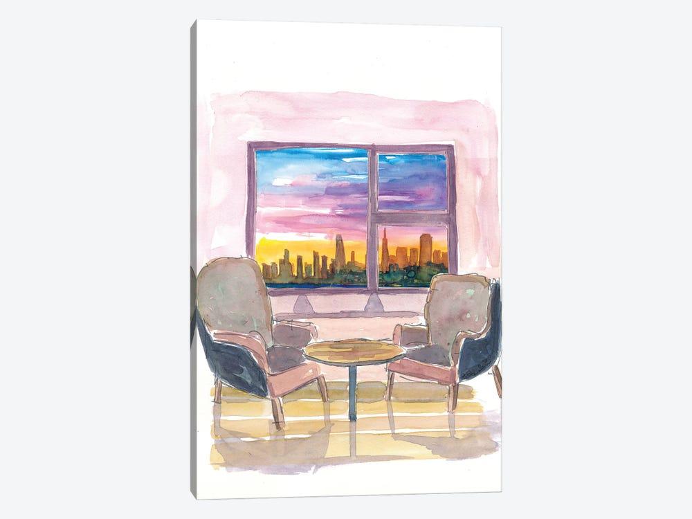 Cozy Panorama Window To San Francisco California by Markus & Martina Bleichner 1-piece Canvas Art