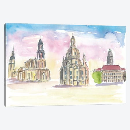 Dresden Old Town Highlights Impressions Canvas Print #MMB223} by Markus & Martina Bleichner Canvas Print