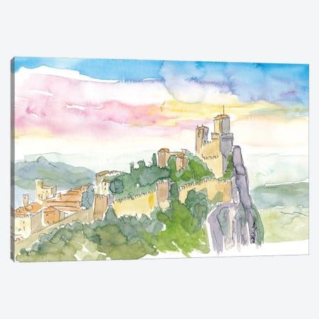 Fortress On Rocks In Guaita Italy Canvas Print #MMB226} by Markus & Martina Bleichner Canvas Art