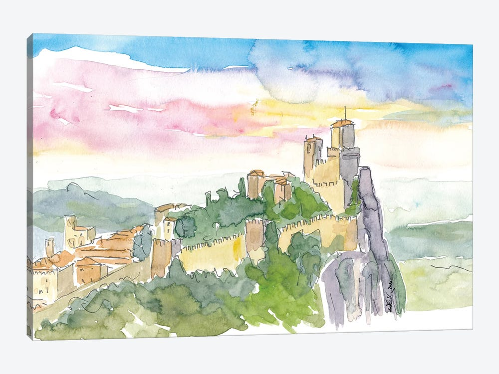 Fortress On Rocks In Guaita Italy by Markus & Martina Bleichner 1-piece Canvas Wall Art