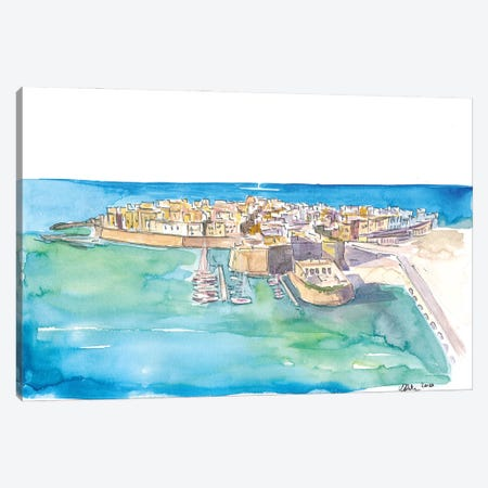 Gallipoli Pearl Of Ionian Sea In Italy Canvas Print #MMB227} by Markus & Martina Bleichner Canvas Artwork