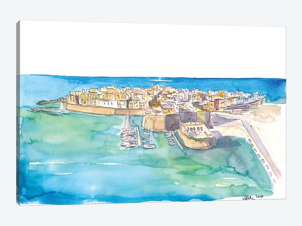 Gallipoli Pearl Of Ionian Sea In Italy by Markus & Martina Bleichner 1-piece Art Print