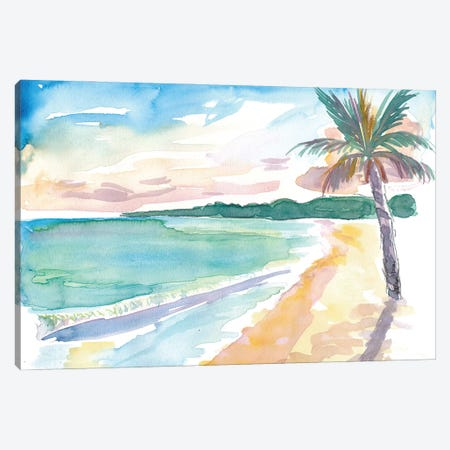 Grand Anse Beach Caribbean Vibes In Grenada Canvas Print #MMB230} by Markus & Martina Bleichner Canvas Art
