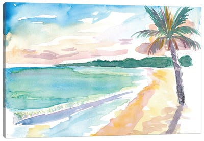 Grand Anse Beach Caribbean Vibes In Grenada Canvas Art Print