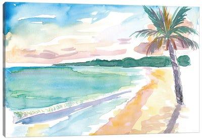 Grand Anse Beach Caribbean Vibes In Grenada Canvas Art Print