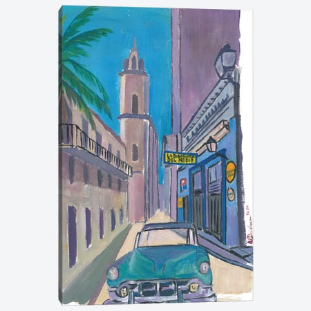 Havana Cuba La Bodeguita Del Medio Street Scene Canvas Print #MMB233} by Markus & Martina Bleichner Canvas Artwork