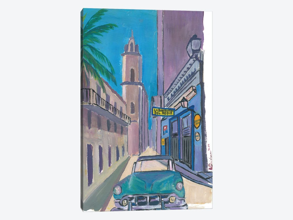 Havana Cuba La Bodeguita Del Medio Street Scene by Markus & Martina Bleichner 1-piece Canvas Wall Art