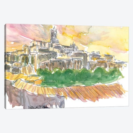 Impressive Siena Skyline From Glorious Past Canvas Print #MMB234} by Markus & Martina Bleichner Canvas Art Print