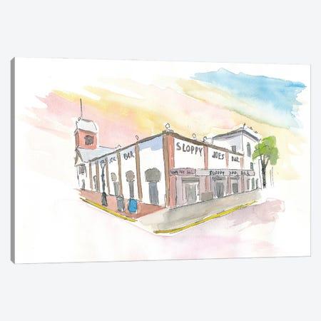 Key West Florida Bar Duval Street Scene Canvas Print #MMB237} by Markus & Martina Bleichner Canvas Art Print