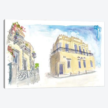 Neve Tzedek Street Scene Tel Aviv Israel Canvas Print #MMB248} by Markus & Martina Bleichner Art Print