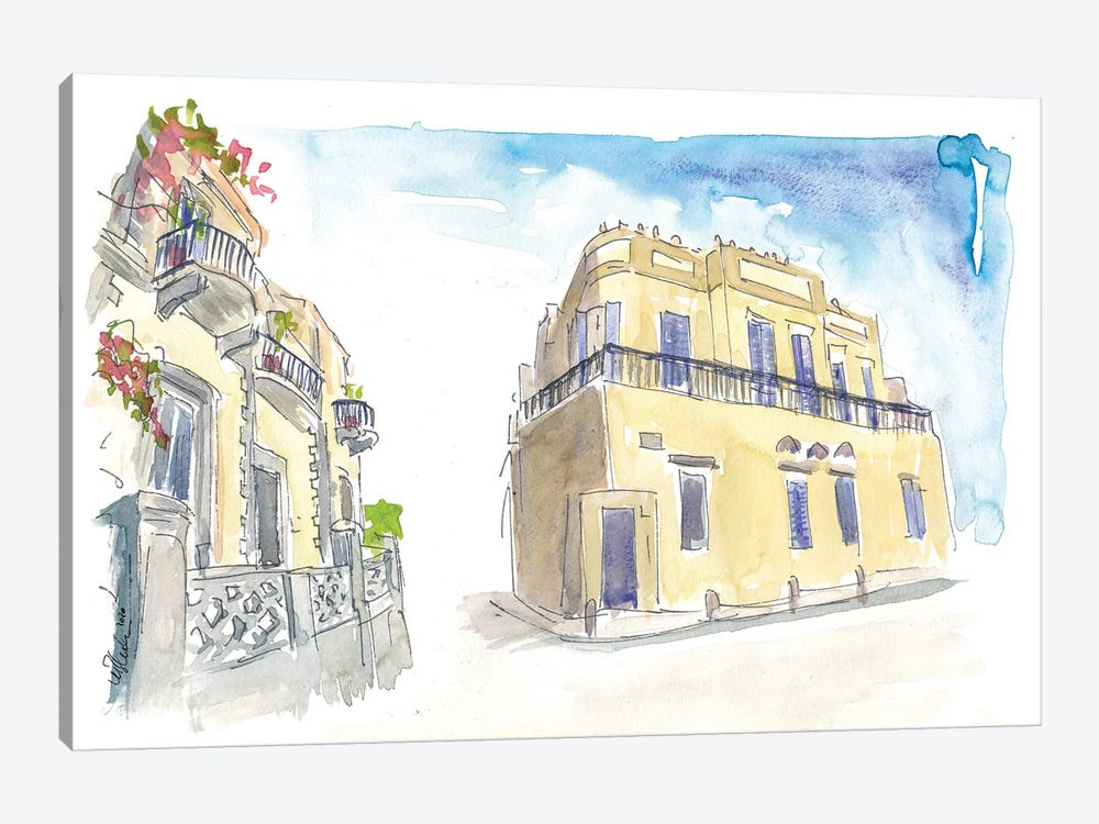 Neve Tzedek Street Scene Tel Aviv Israel by Markus & Martina Bleichner 1-piece Canvas Art