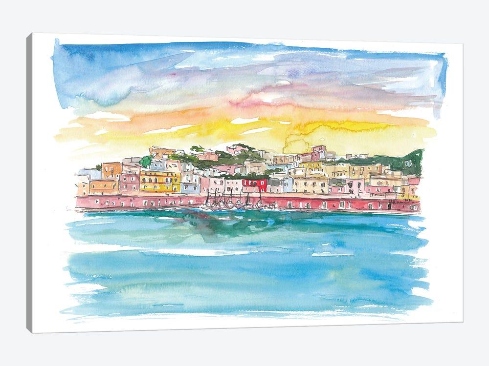 Ponza Pontine Island Romantic in Italy by Markus & Martina Bleichner 1-piece Canvas Art Print