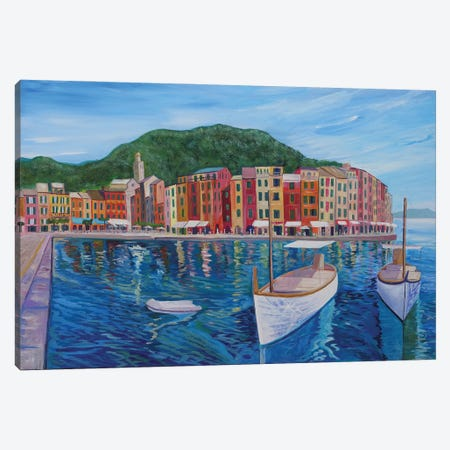 Portofino Mediterranean Pearl Of The Italian Riviera Canvas Print #MMB256} by Markus & Martina Bleichner Canvas Art Print