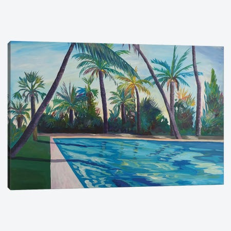 Serenity And Zen at The Cool Florida Pool Canvas Print #MMB263} by Markus & Martina Bleichner Canvas Art Print