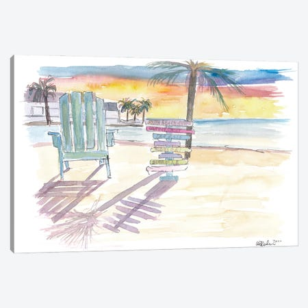 Southernmost Beach Key West Morning Glory Canvas Print #MMB264} by Markus & Martina Bleichner Canvas Art