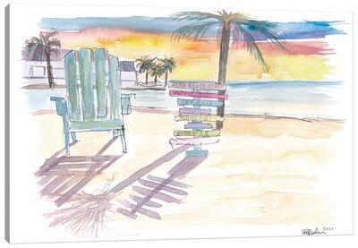 Southernmost Beach Key West Morning Glory Canvas Art Print