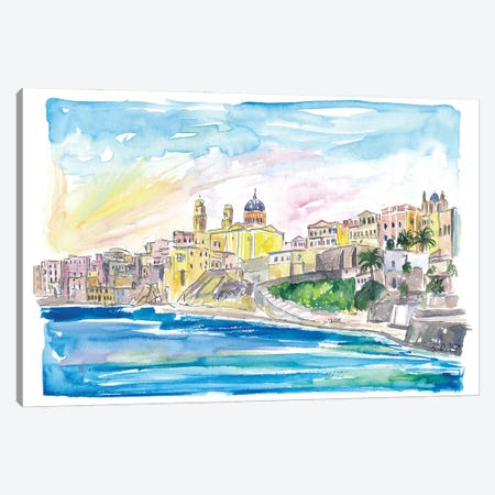 Syros Ermoupoli and Ano Syros Cyclades Waterfront Canvas Print #MMB273} by Markus & Martina Bleichner Canvas Wall Art