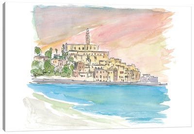 Tel Aviv Jaffa View of Old Town And Sea Canvas Art Print
