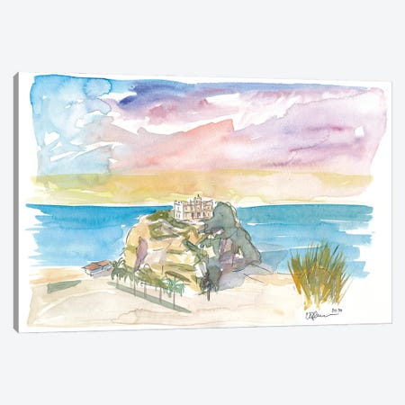 Tropea Italy Calabria Rock And Beach Canvas Print #MMB276} by Markus & Martina Bleichner Art Print